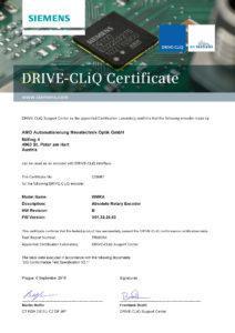 DRIVE-CLiQ WMKA Certificate