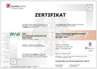 Quality Austria Zertifikat