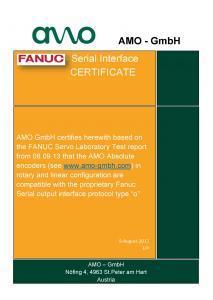 FANUC Certificate